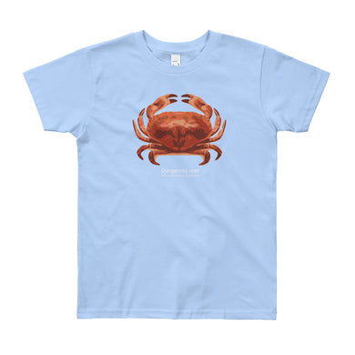 Dungeness crab- Youth, microplastic-free, fine art T-shirt