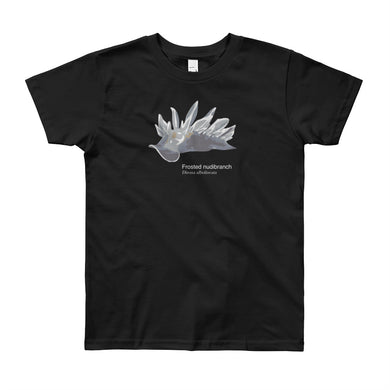 Frosted nudibranch- Youth, microplastic-free, fine art T-shirt