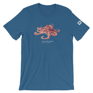 Giant Pacific octopus - Fine art, micro-plastic free, unisex T-shirt