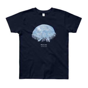 Moon jelly- Youth, microplastic-free, fine art T-shirt