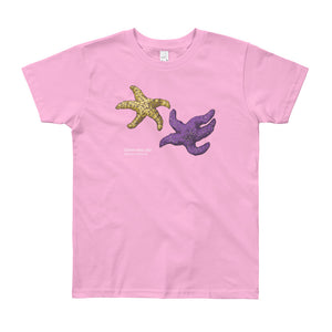 Ochre sea star- Youth, microplastic-free, fine art T-shirt