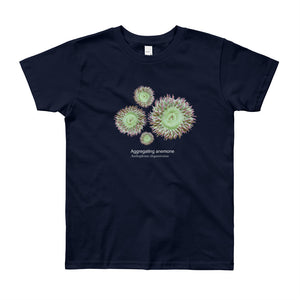 Aggregating anemone-Youth, micro-plastic free, fine art T-shirt