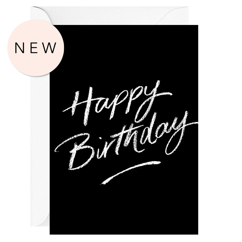 Happy birthday (Black) – Greeting Card