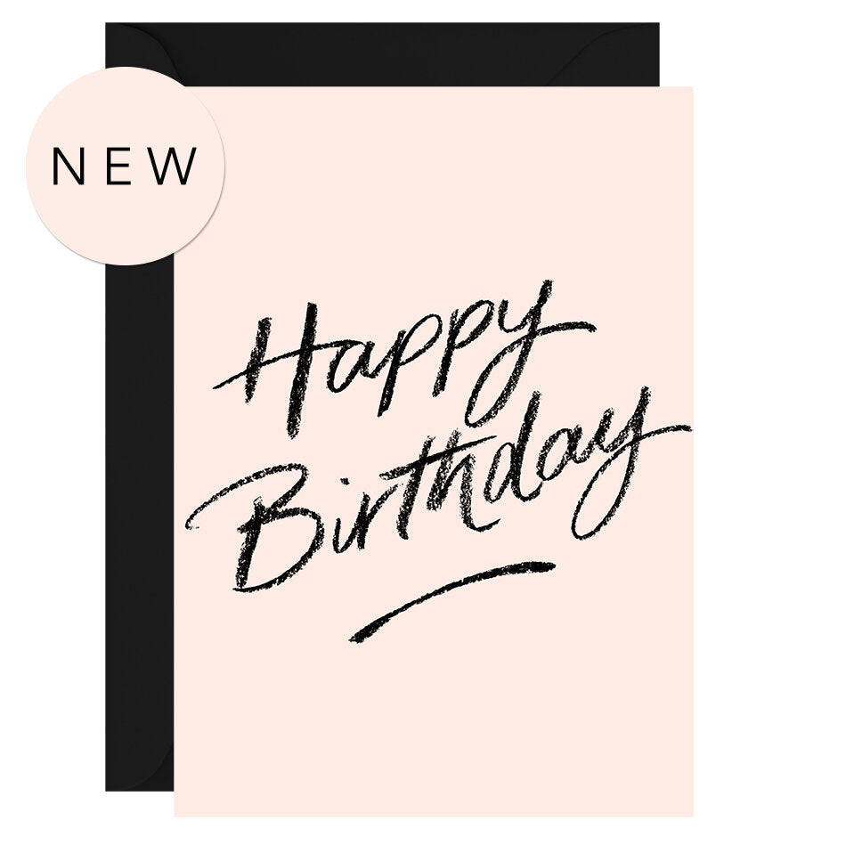 Happy birthday (blush) – Greeting Card