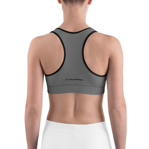 Beautifully Badass Sports Bra - Grey
