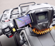 universal phone holder mount for ATV quad snowmobile handlebars or stem