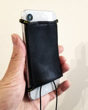 leather iphone lanyard wallet