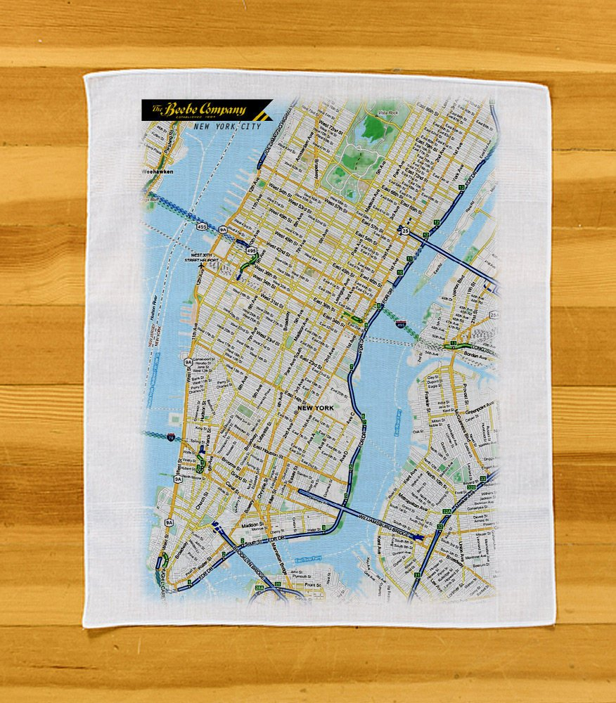 Maps Printed on Kerchiefs
