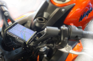 universal phone holder mount for motorcycle handlebars or stem