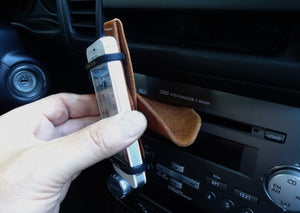 CD player phone holder mount