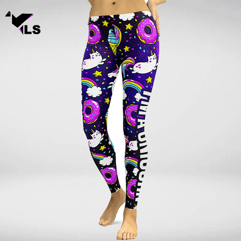 "Legging Fantaisie de Yoga ""Cosmos Sugar"""