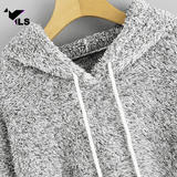 Hoodie Polaire Gris