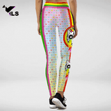 Legging Fantaisie à Imprimé Multicolore