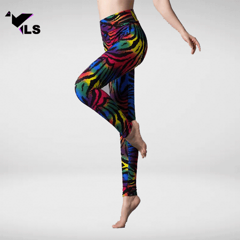 Legging Léopard Impression Multicolore