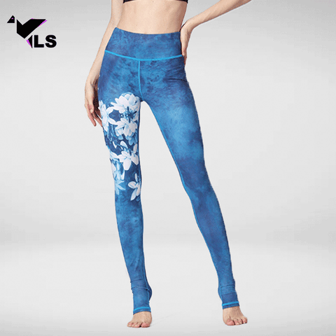 Legging Pilates Bleu