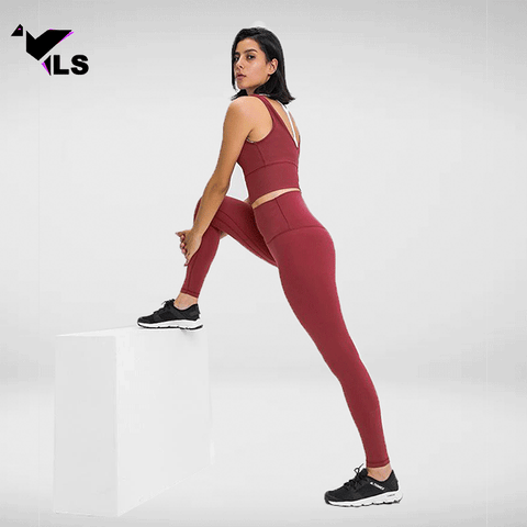 Legging Yoga Bordeaux