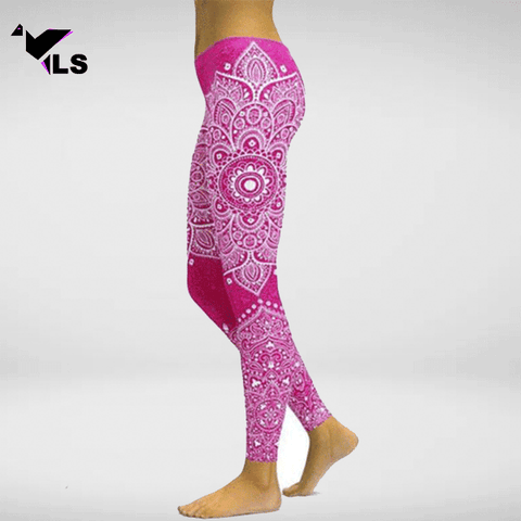legging de yoga motif rose presentation 600x600px