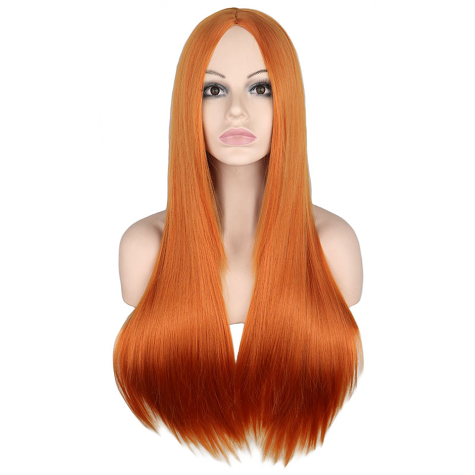Beaufox Hair 350 Orange Straight Hair Lace Front Colorful Wig Virgin Human Hair 150% Density