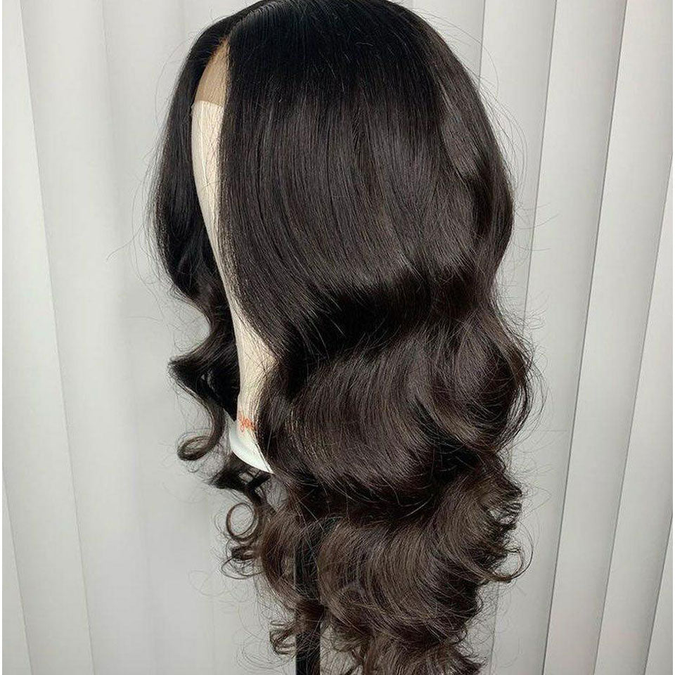 360 Lace Frontal Wig 180% Density Body Wave Human Hair Wigs Natural Black Pre Plucked Virgin Hair-Beaufox Hair