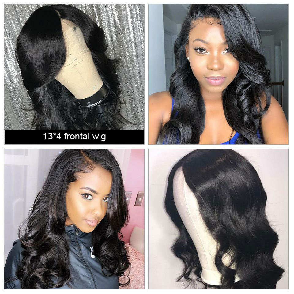 Beaufox Hair 13*4 Lace Front Wig 150% Density Body Wave Human Virgin Hair