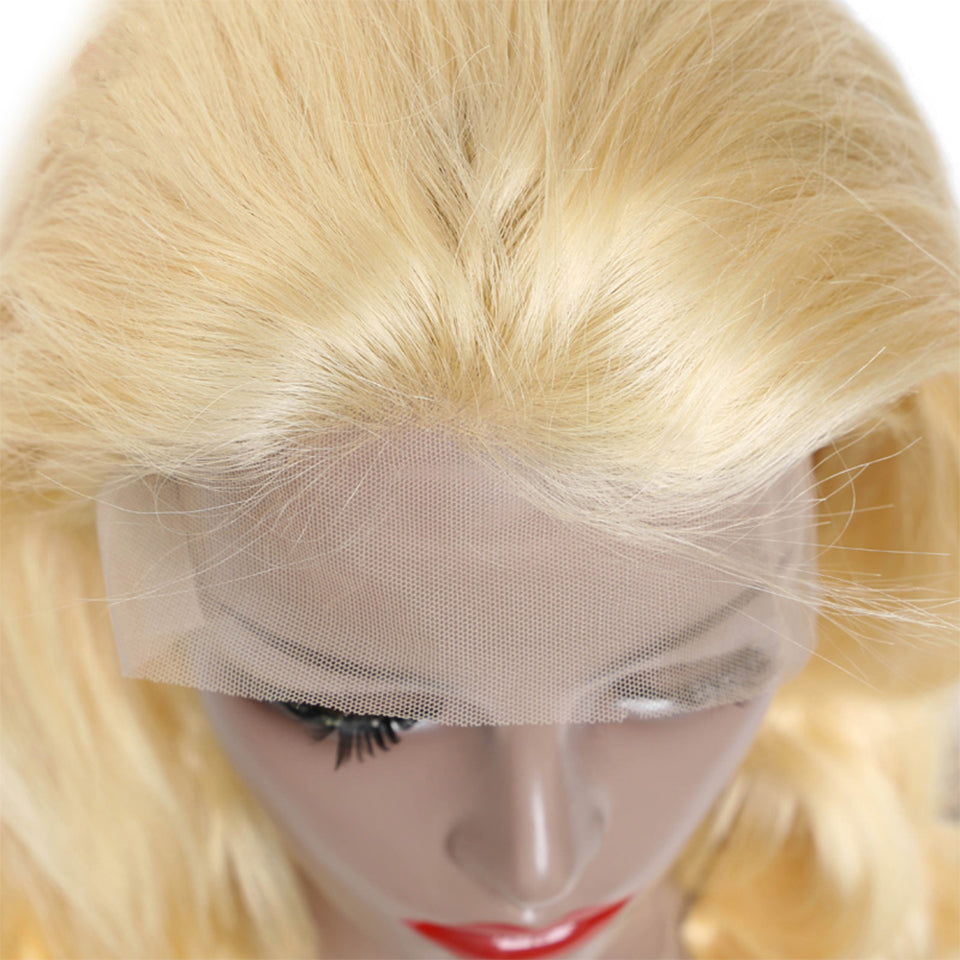 Beaufox Straight Hair 13*4 Lace Front Wig 150% Density 613 Blonde Human Hair Wigs