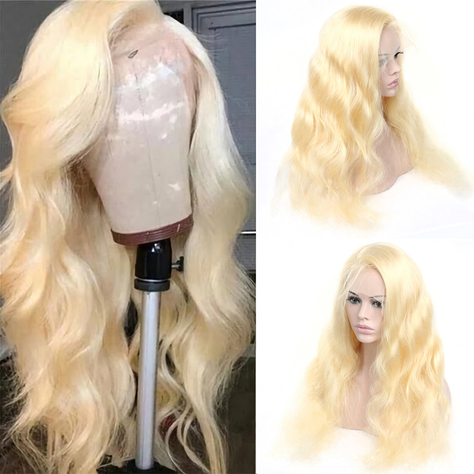 Beaufox 180% Density Body Wave 613 Blonde 13*4 Lace Front Wig With Baby Hair