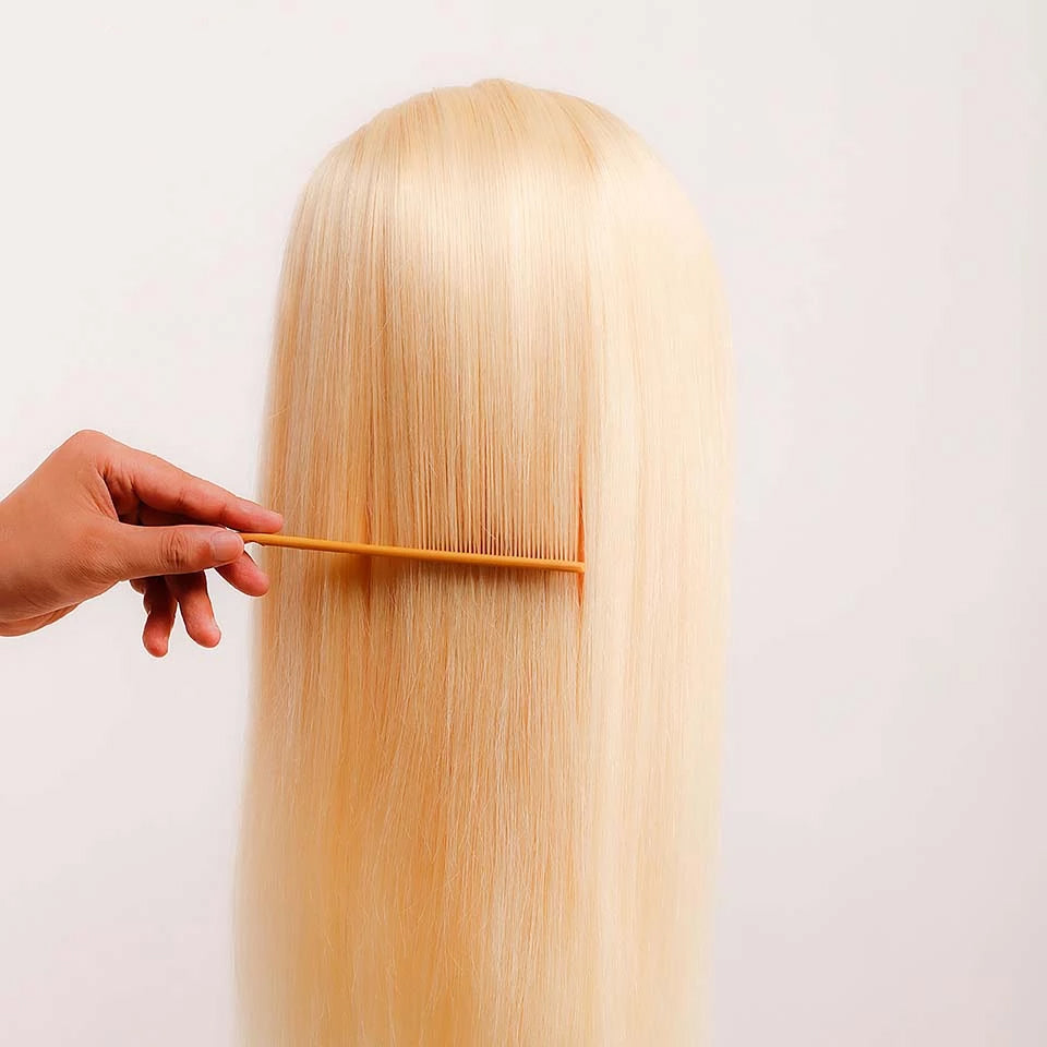 Beaufox Hair 613 Blonde Straight Lace Front Wigs With Baby Hair 180% Density