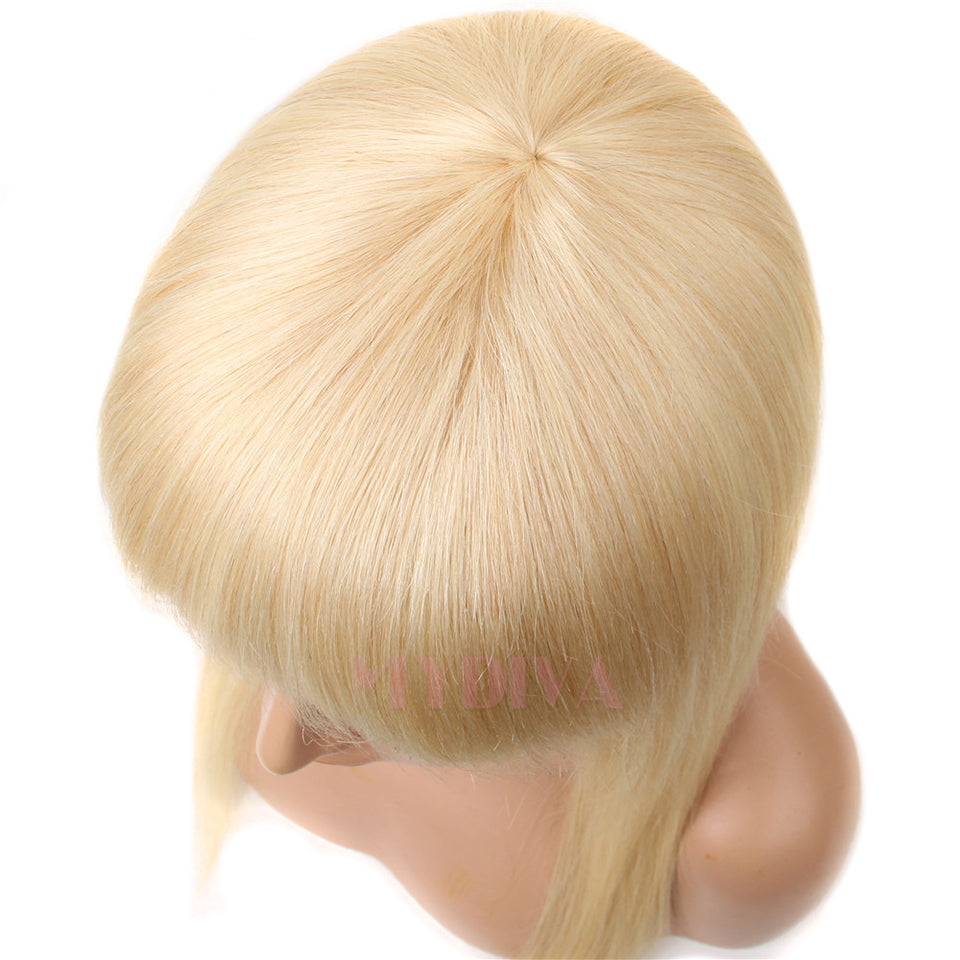 Beaufox Hair Straight 613 Blonde Human Hair Wigs With Bangs No Lace Front Wigs Brazilian Hair Glueless Wigs