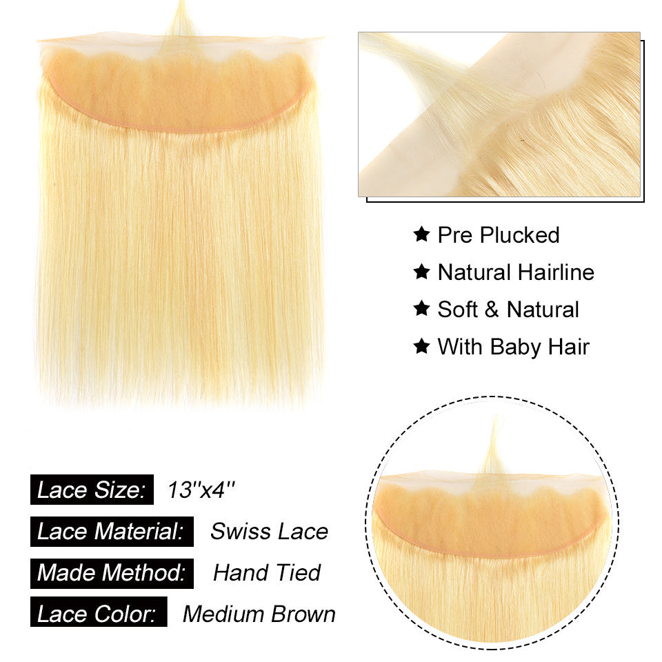 Beaufox Hair Straight 13*4 Lace Frontal 613 Blonde Hair