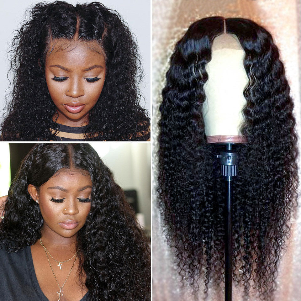 Beaufox Deep Wave 360 Lace Front Wig 150% Density 100% Virgin Human Hair