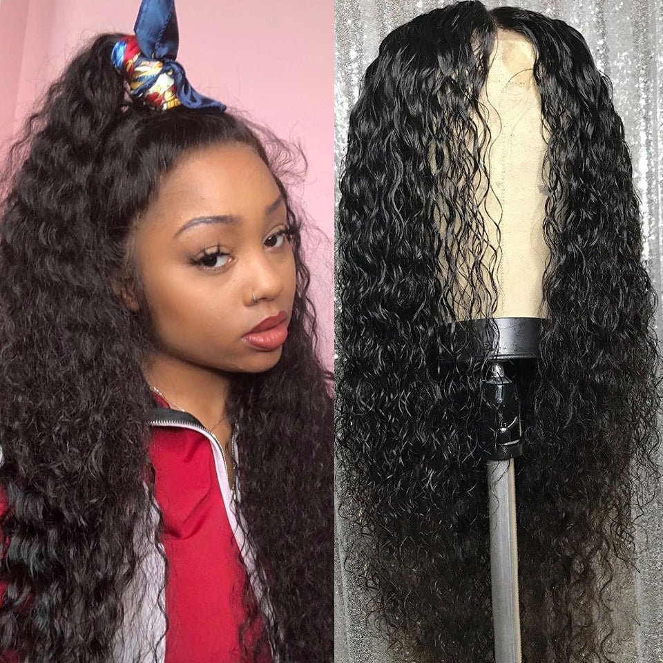Beaufox Deep Wave 360 Lace Front Wig 150% Density,  100% Virgin Human Hair