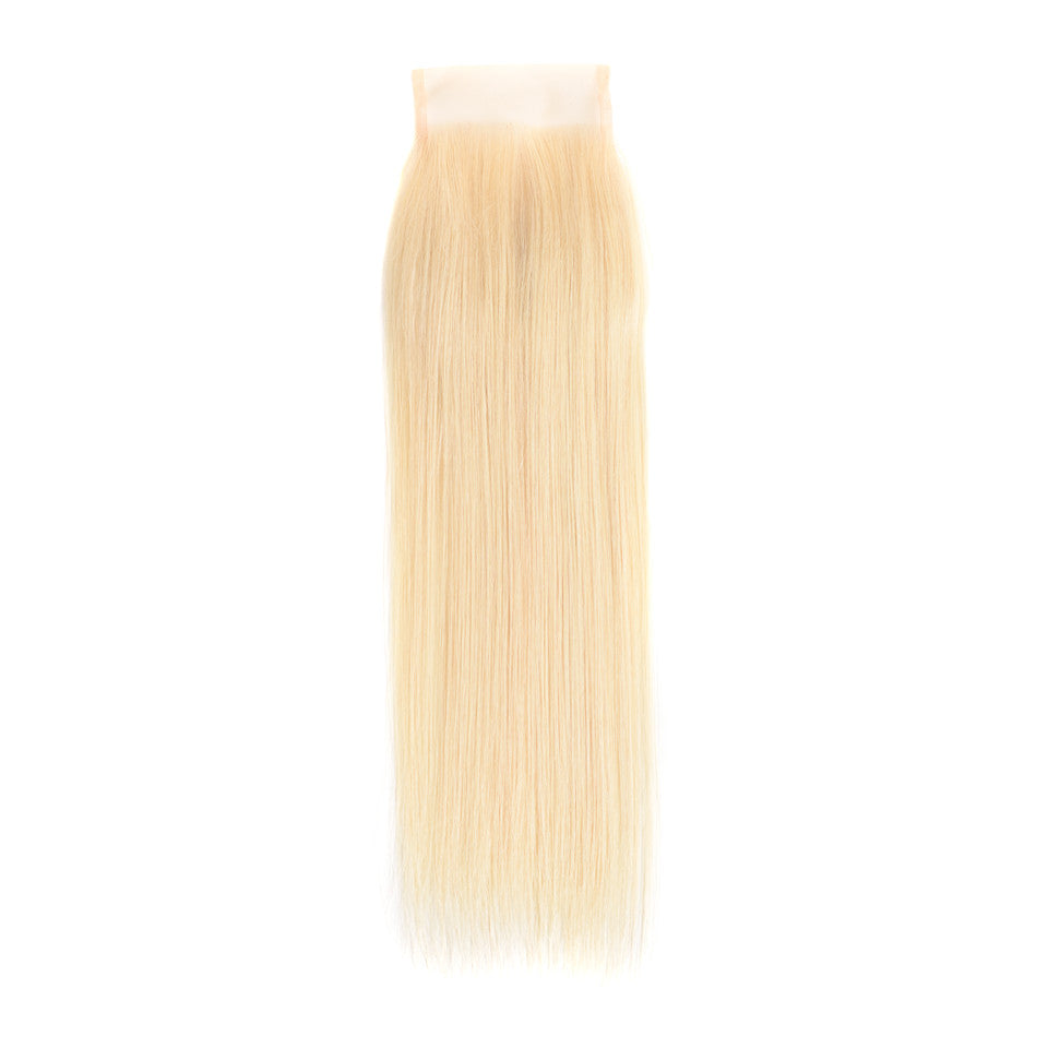 Beaufox Hair Straight 4*4 Lace Closure 613 Blonde Hair 100% Human Hair