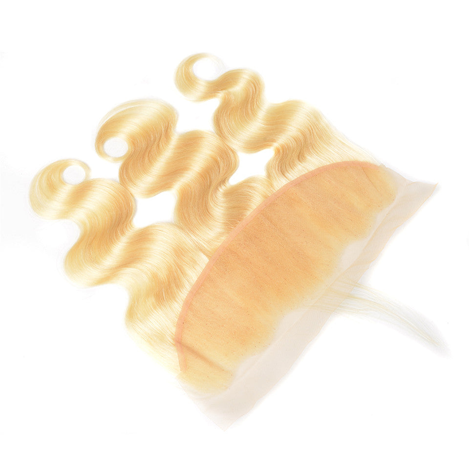 Beaufox Hair Virgin Human Hair 613 Blonde Body Wave 13*4 Lace Frontal