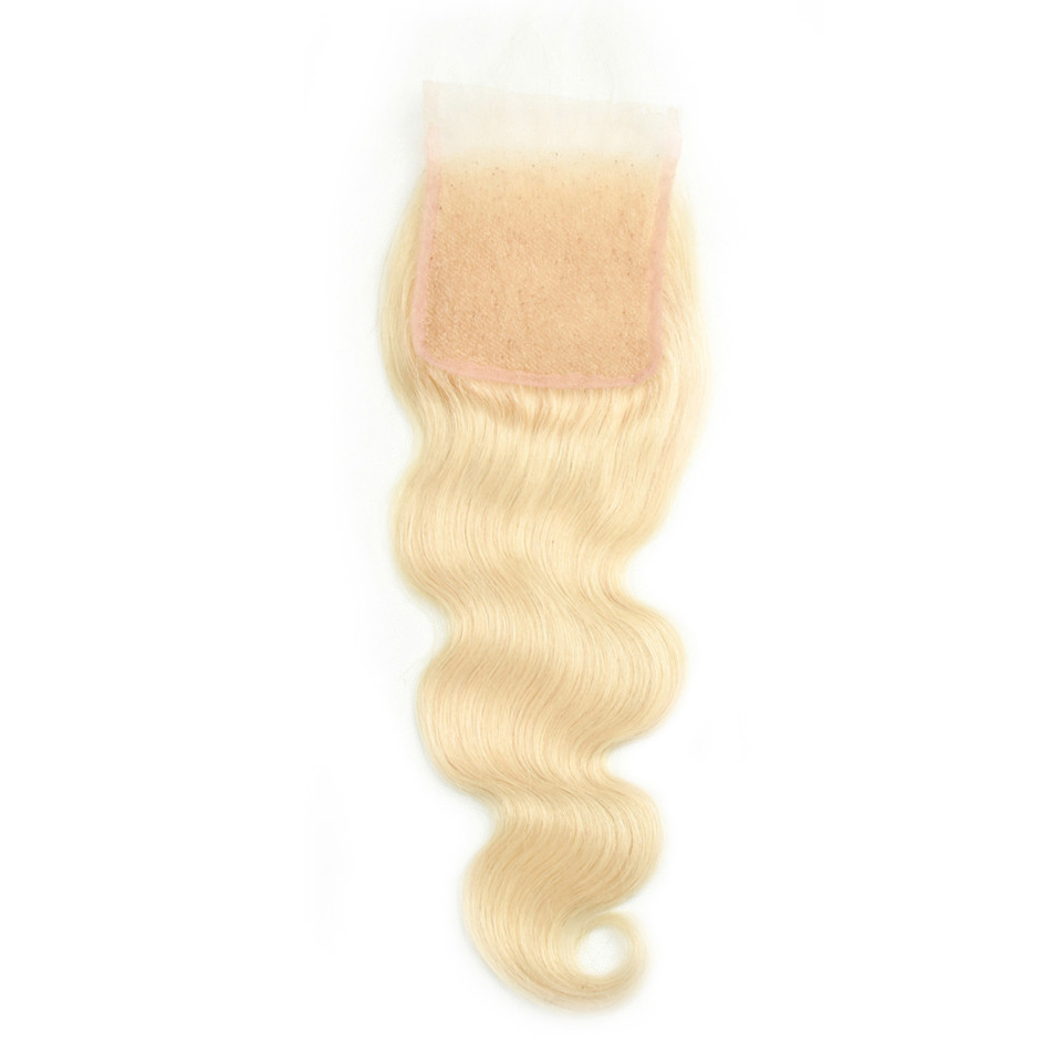 Beaufox Hair 613 Blonde Hair Body Wave 4*4 Lace Closure 100% Human Hair