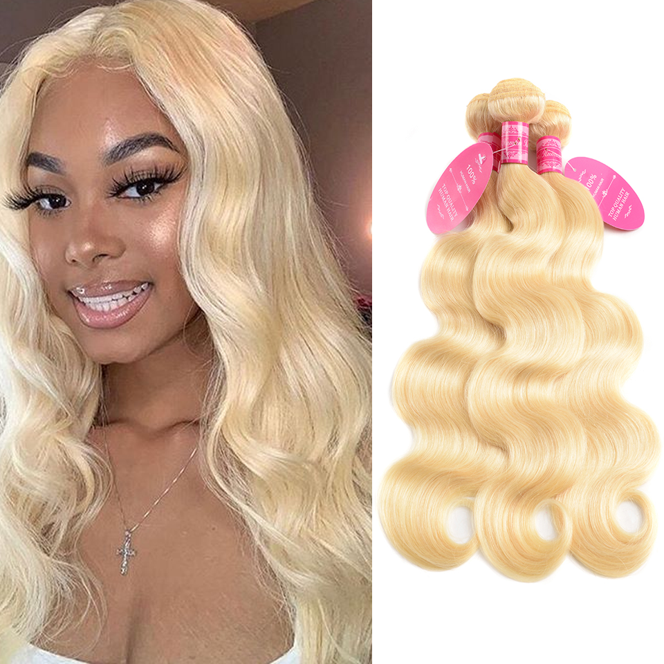 Beaufox Hair Body Wave 613 Blonde 3 Bundles 100% Human Hair