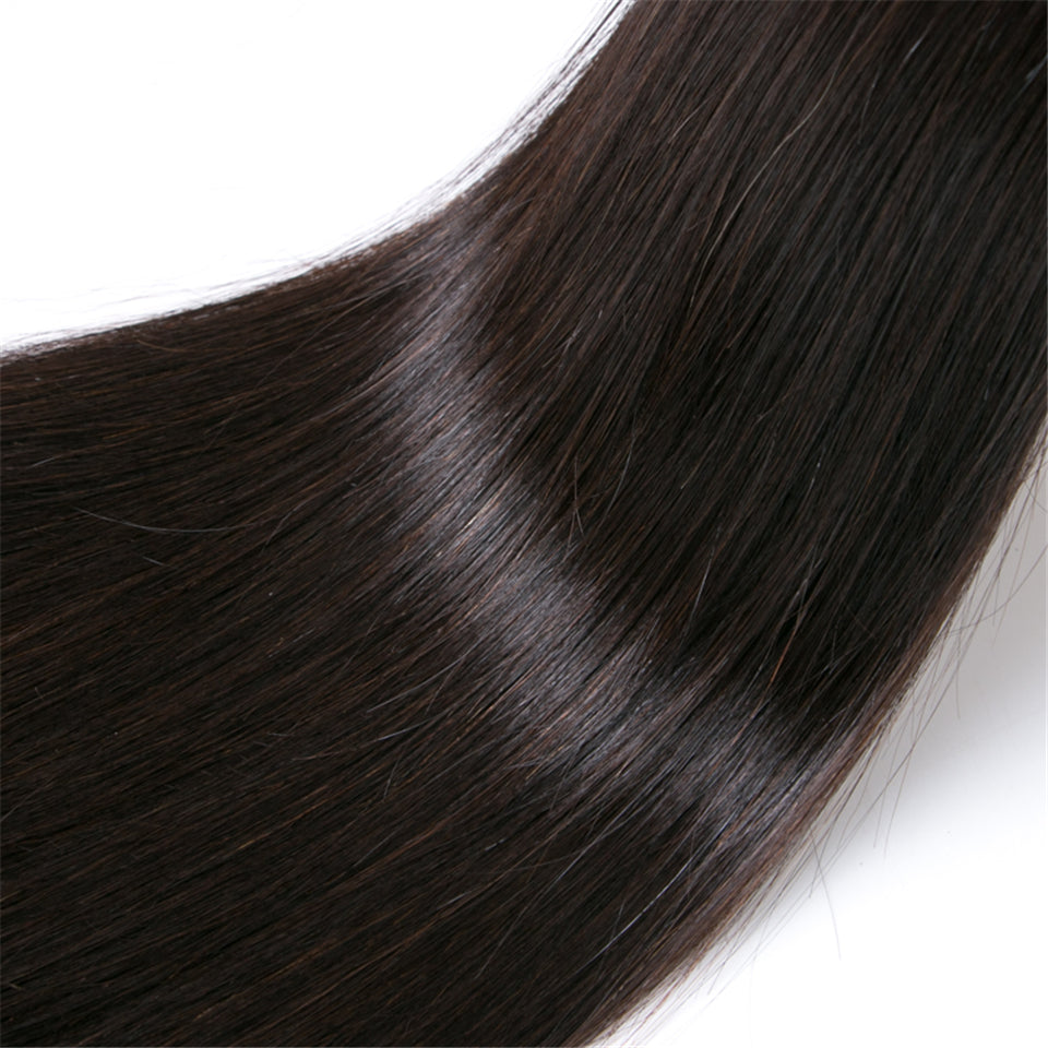 Beaufox Hair Straight 1 Bundle Virgin Human Hair 8-28 inch Natural Color