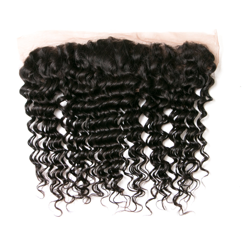 Beaufox Hair Deep Weave 4 Bundles With 13*4 Lace Frontal