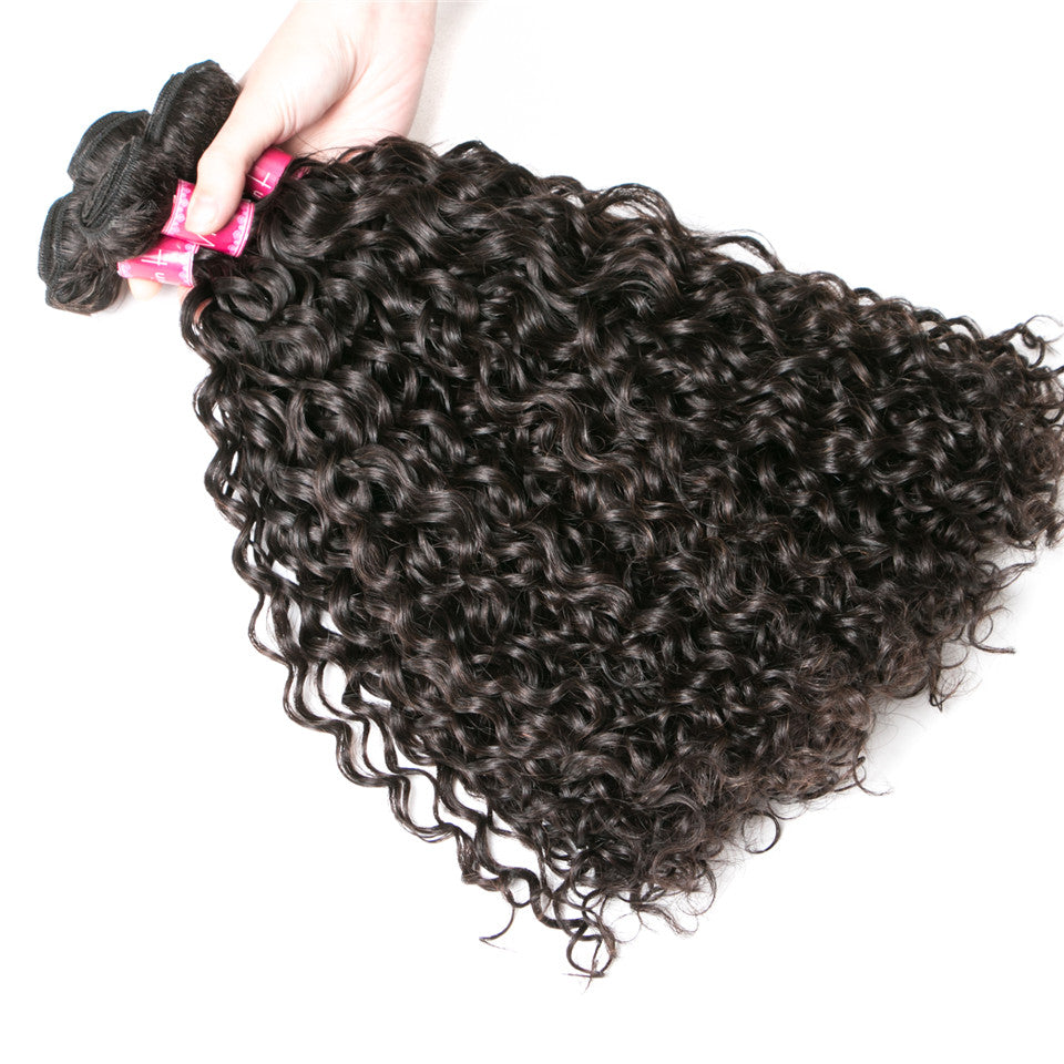 Beaufox Hair Water Wave 100% Human Hair 5 Bundles Virgin Hair Natural Color