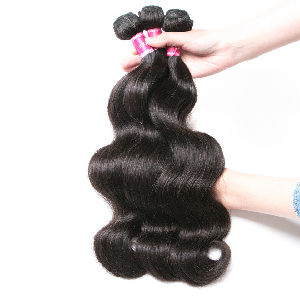 Beaufox Hair Body Wave 100% Virgin Human Hair 5 Bundles Natural Color