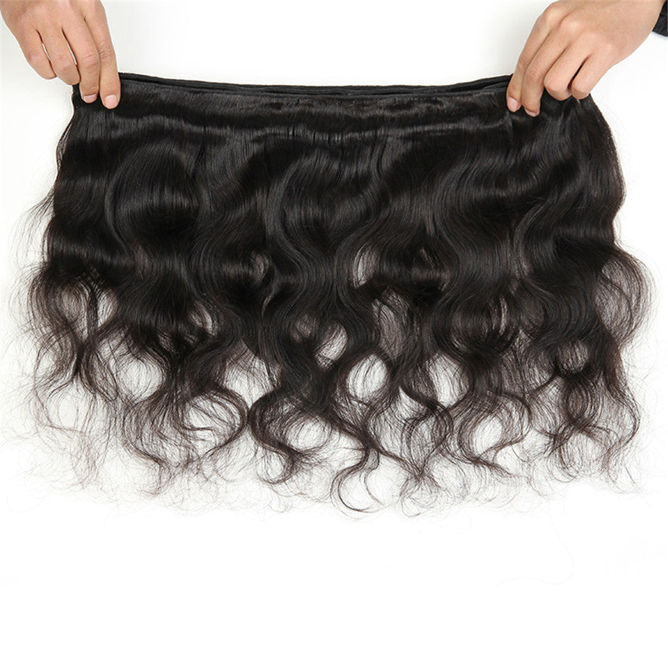 Beaufox Hair Body Wave 3 Bundles Natural Black Virgin Human Hair