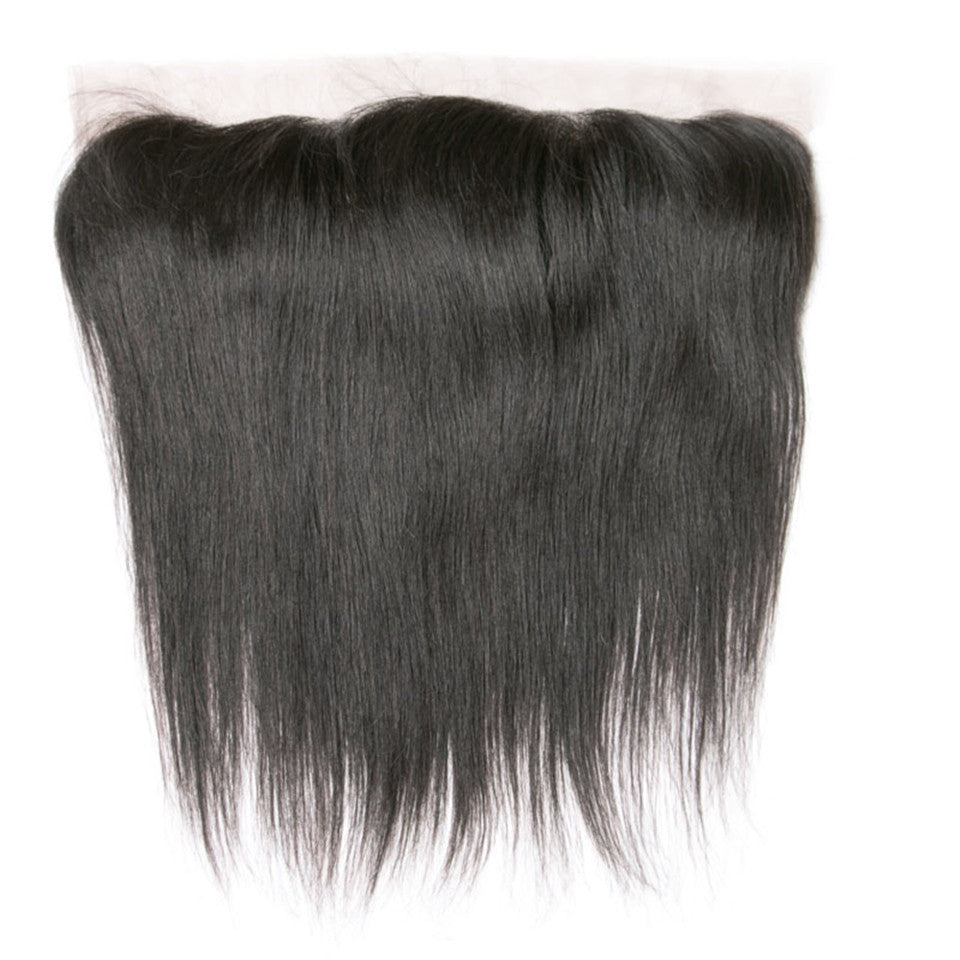 Beaufox Hair Human Hair Straight Wave 13*4 Lace Frontal Natural Black