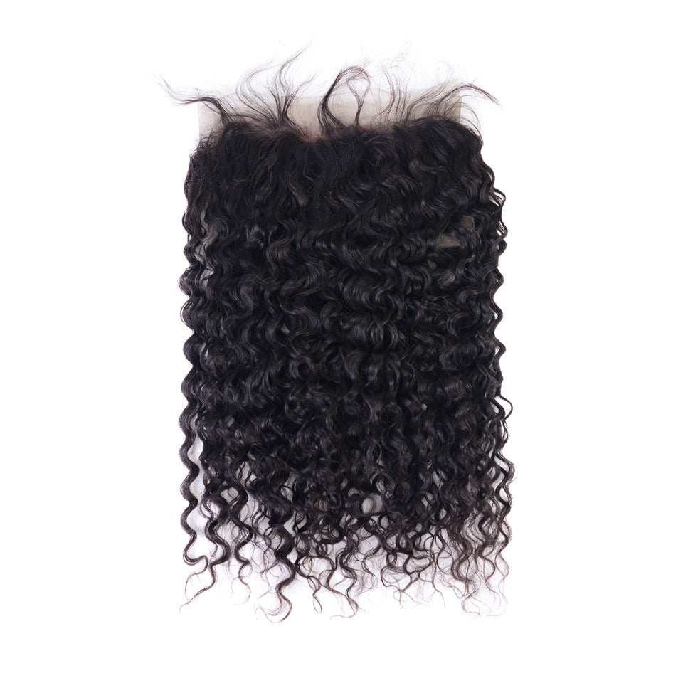 Beaufox Water Wave 4 Bundles With 360 Lace Frontal 100% Human Hair