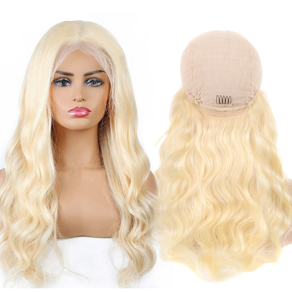 Beaufox Body Wave 613 Blonde 13*4 Lace Front Human Hair Wig 150% Density