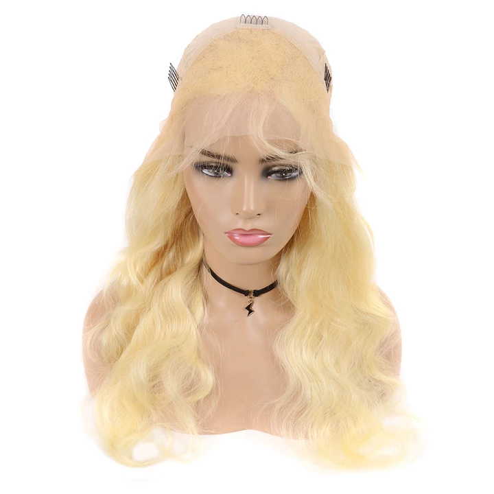 Beaufox 613 Blonde 13*4 Lace Front Wig Body Wave Human Hair 180% Density