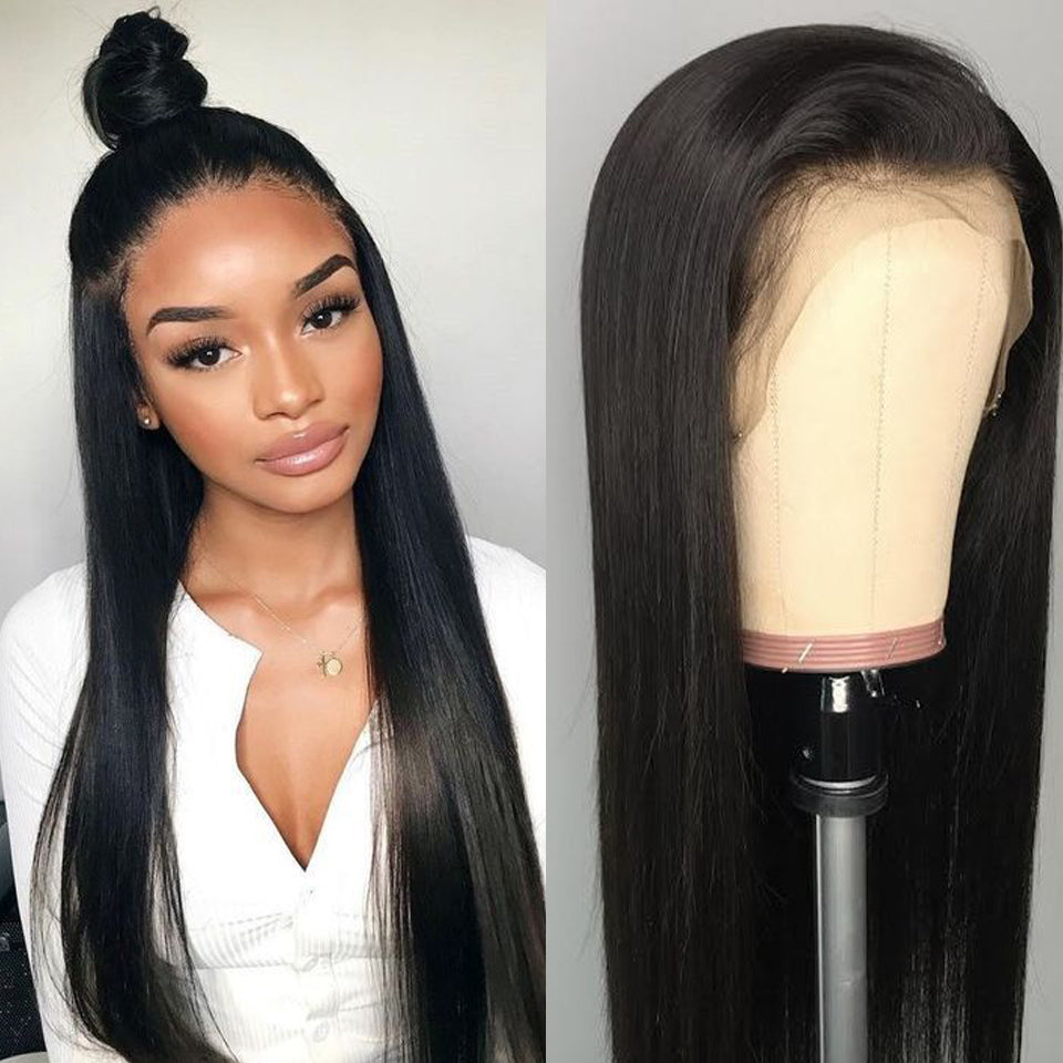 Beaufox Affordable Straight Hair Lace Front Wig, 180% Density, 100% Virgin Human Hair