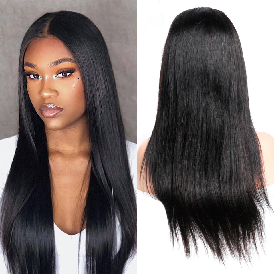 Beaufox Hair Straight 13*4 Lace Front Wig Virgin Human Hair Wigs 250% Density For Women
