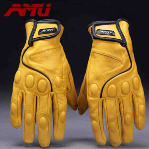 AMU Leather Motorcycle gloves
