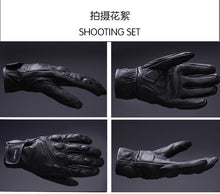 Load image into Gallery viewer, AMU Leather Motorcycle gloves