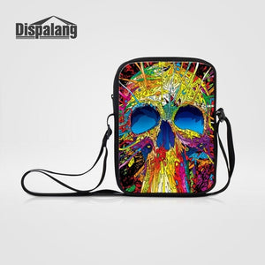 Small Messenger Bag,Skull
