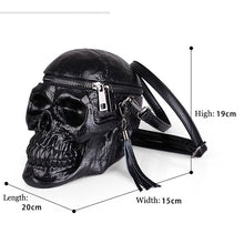 Load image into Gallery viewer, Skull Bag/Purse (by Arsmundi)